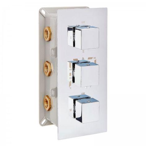 Mezclador de ducha termostática para empotrar con inversor de 6 vías / 6 funciones UP11-02