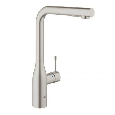 Mezclador de fregadero de una mano, DN 15, spray de enjuague doble, color: cromado - 30270000