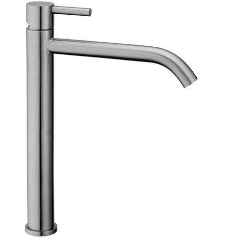 Mezclador de lavabo alto sin válvula automática Paffoni STEEL081AC | Acero - Sin Desagüe