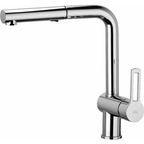 Mezclador de lavabo con ducha extraíble de 2 chorros Paffoni Ringo-West RIN285-WS285