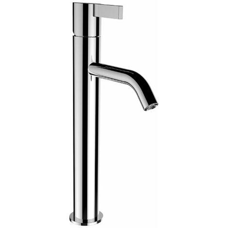 Mezclador de lavabo con pedestal Kartell en ejecución, caño fijo, sin válvula de desagüe, proyección 125 mm, color: cromado - H3113380041201