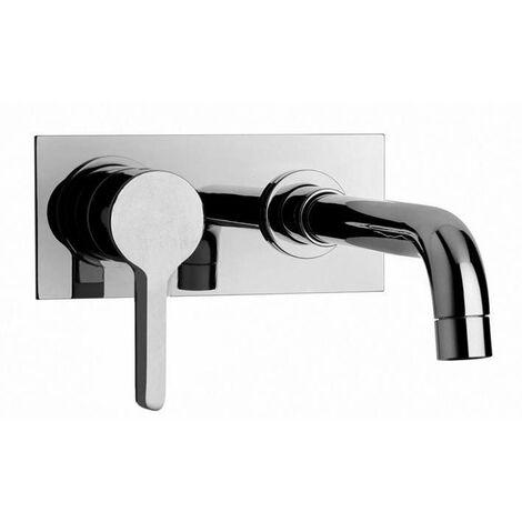 Mezclador de lavabo de pared con caño de 200 mm Piralla Abbracci 0BR00497B16 | Cromo - 200 mm