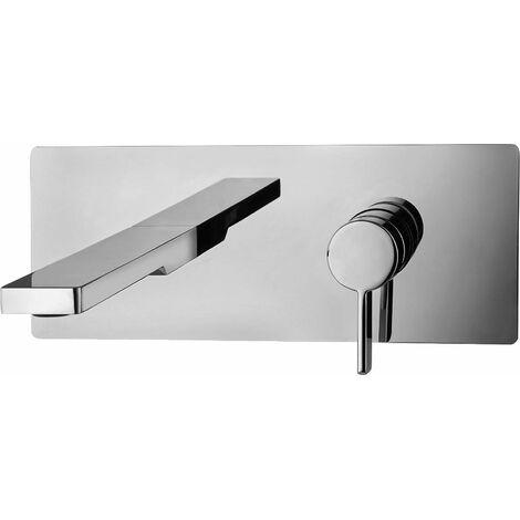 Mezclador de lavabo de pared con placa Paffoni Rock RO104-RO105-RO106