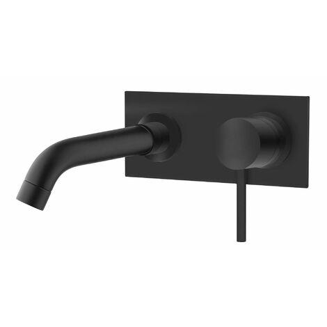 Mezclador de lavabo empotrado negro mate con placa Piralla Iseo 0SUYO497D19 | Negro mate - 230