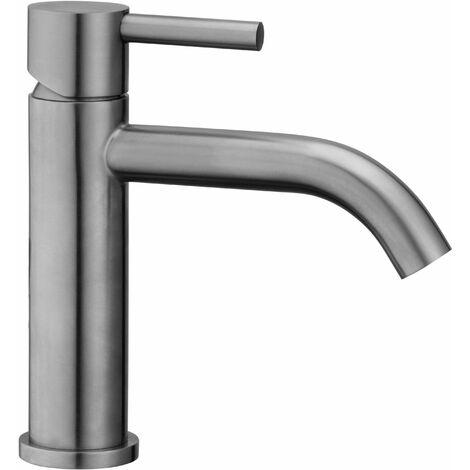 Mezclador de lavabo en acero cepillado Paffoni STEEL071AC-STEEL075AC