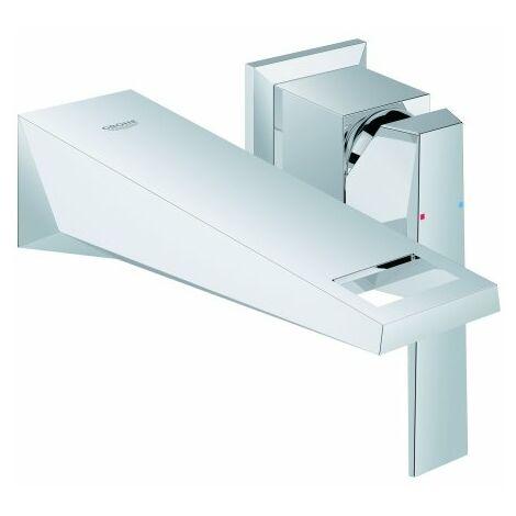 Mezclador de lavabo Grohe Allure Brilliant de 2 orificios para montaje en pared, proyección 161mm - 19781000