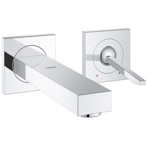 Mezclador de lavabo Grohe Eurocube Joy de 2 agujeros, para montaje en pared, proyección 231mm - 19998000