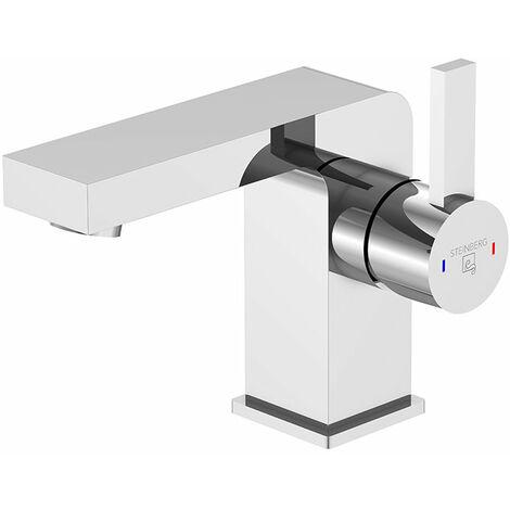 Mezclador de lavabo Steinberg Serie 120 Proyección 120 mm, altura 105 mm, con grifo de desagüe - 1201020