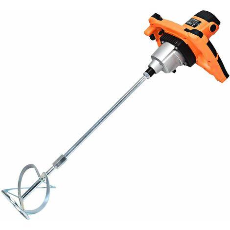 Mezclador de Mortero Eléctrico Mezclador Potencia1400W / 900rpm/min Velocidad Ajustable Naranja y Negro