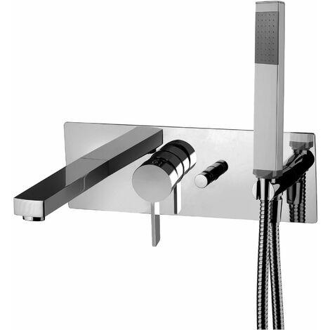 Mezclador empotrado para bañera Paffoni Rock RO001CR | Cromo