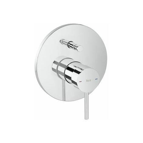 Mezclador Lanta empotrable para baño-ducha con inversor automático.
