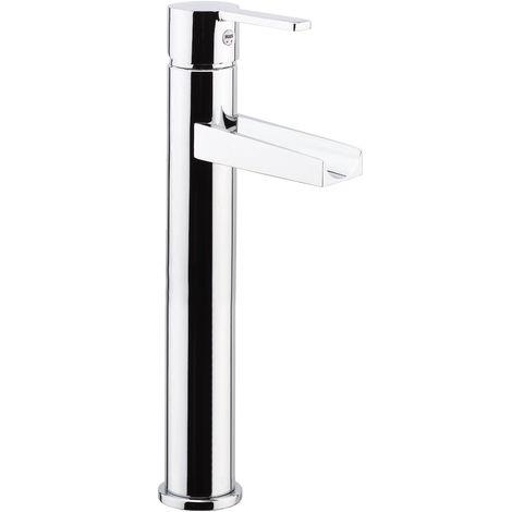 Mezclador lavabo à cascada con caño alto y desagüe automático Fiore Katana 77CR7528   Cromato