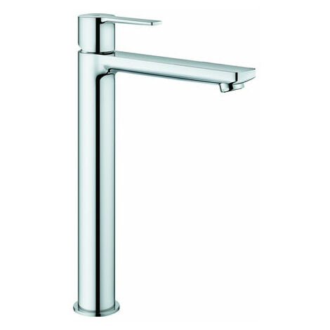 Mezclador lineal monomando de lavabo Grohe, tamaño XL, para lavabos independientes, sin desagüe automático, color: súper acero - 23405DC1