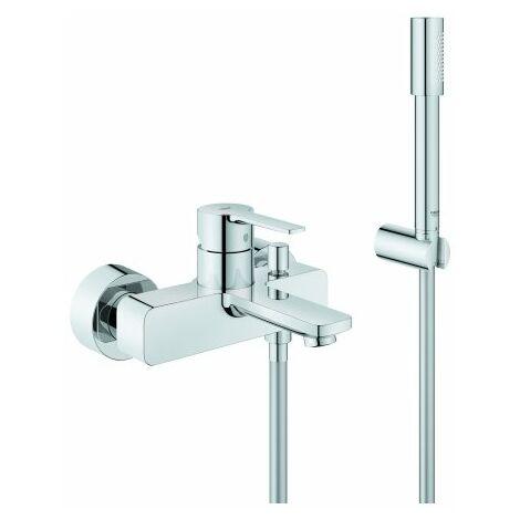 Mezclador lineal monomando para bañera Grohe, de pared, con kit de ducha - 33850001