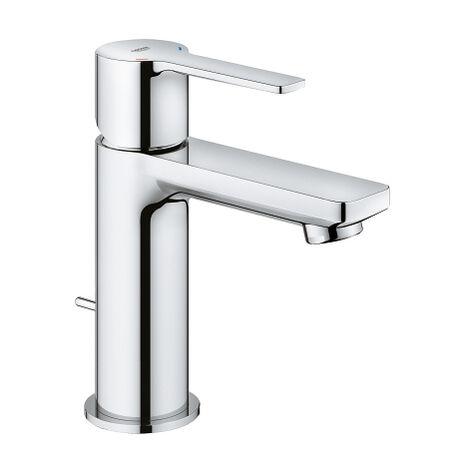 Mezclador lineal monomando para lavabo Grohe, tamaño XS, con juego de desagüe, color: cromado - 32109001