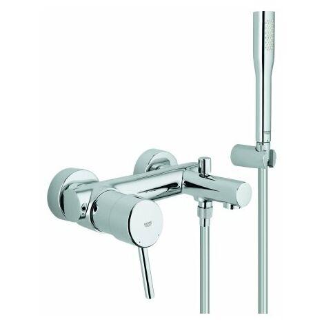 Mezclador monomando de bañera Grohe Concetto, montaje en pared, con kit de ducha, cambio automático bañera/ducha - 32212001
