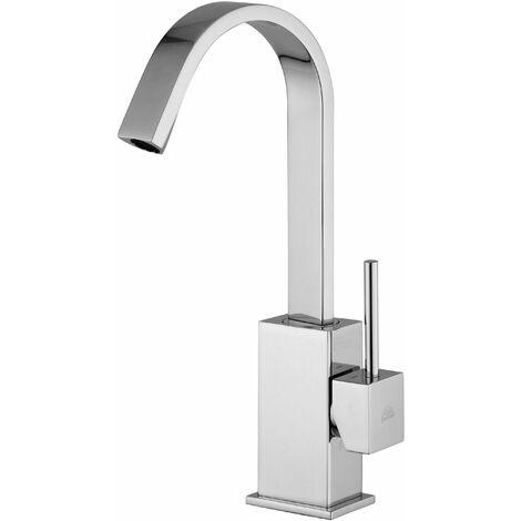 Mezclador monomando de lavabo con caño plano giratorio Paffoni Level LEA878-LEA877