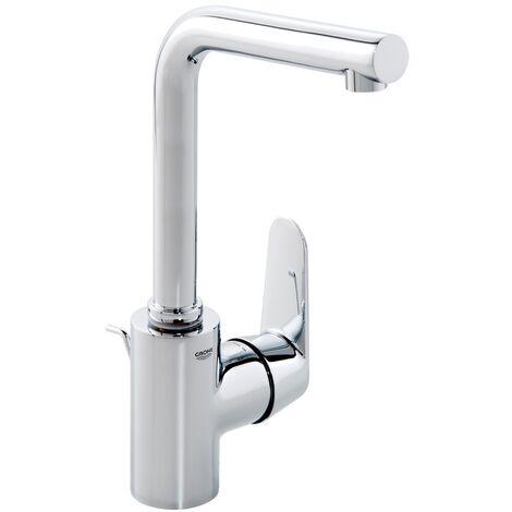 Mezclador monomando de lavabo Grohe Eurodisc-Cosmopolitan DN 15, tamaño L, montaje de un orificio, con desagüe automático, caño giratorio - 23054003