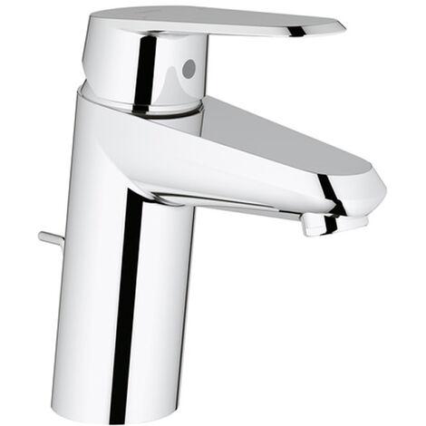 Mezclador monomando de lavabo Grohe Eurodisc-Cosmopolitan DN 15, tamaño S, montaje de un orificio, con desagüe automático, sin limitación de caudal ni de temperatura - 33190002