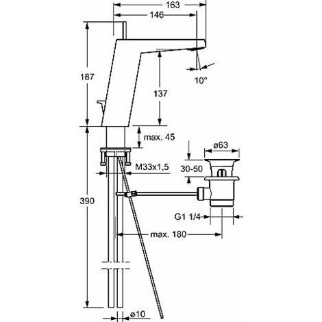 Mezclador monomando de lavabo Hansa Hansaloft 5755, conexión mediante tubos de cobre, cromado - 57552103