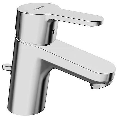 Mezclador monomando de lavabo Hansa Hansaprimo con una mano, con desagüe automático Proyección 107 mm - 49402203