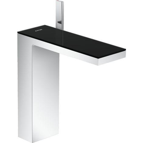 Mezclador monomando de lavabo Hansgrohe AXOR MyEdition 230 con desagüe automático de apertura fácil, color: cromo / cristal negro - 47020600