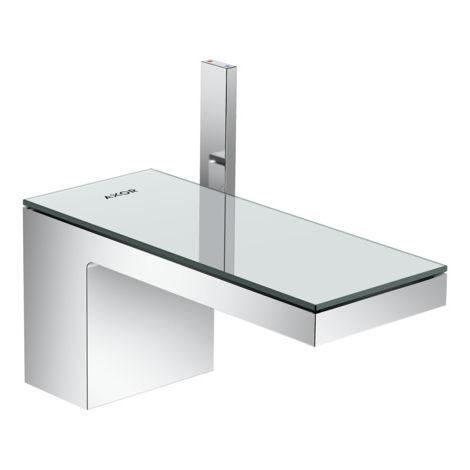 Mezclador monomando de lavabo Hansgrohe AXOR MyEdition 70 con desagüe automático con pulsador, color: cristal cromado / espejo - 47010000
