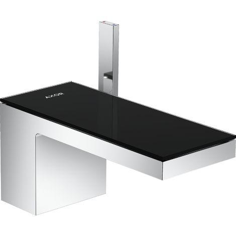 Mezclador monomando de lavabo Hansgrohe AXOR MyEdition 70 con desagüe automático con pulsador, color: cromo / cristal negro - 47010600