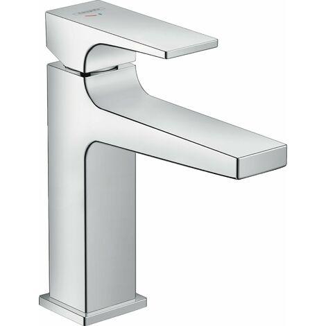 Mezclador monomando de lavabo Hansgrohe Metropol 110, CoolStart, con maneta, desagüe con pulsador, proyección de 135 mm - 32508000
