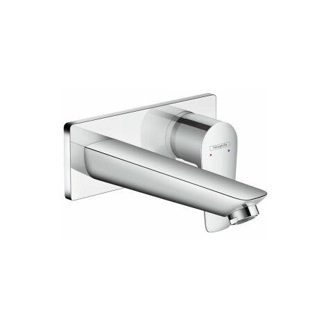 mezclador monomando de lavabo hansgrohe Talis E oculto, montado en la pared, válvula de colador desbloqueable, proyección de 165mm - 71732000