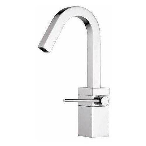 "Mezclador monomando de lavabo Nobili Cube CB00518/2CR   Cromo - Desagüe 1""1/4 con tapon click-clack"