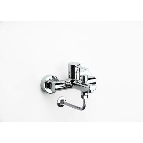 Mezclador monomando exterior baño-ducha inversor automático y codo enlace a pared instalación brazo ducha Targa