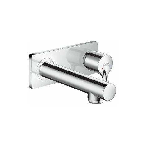 Mezclador monomando Hansgrohe Talis Select S para lavabo empotrado, montaje en pared, 165mm de proyección - 72110000