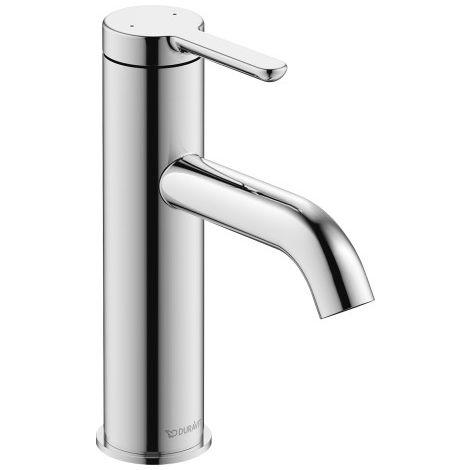 Mezclador monomando lavabo M Duravit C.1, sin desagüe automático, proyección 113mm - C11020002010