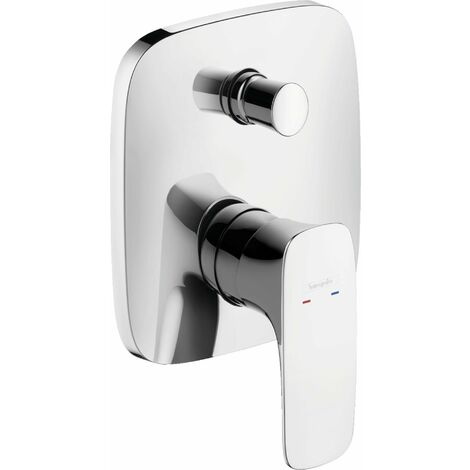 Mezclador monomando para bañera Hansgrohe PuraVida empotrado, color: cromado - 15445000