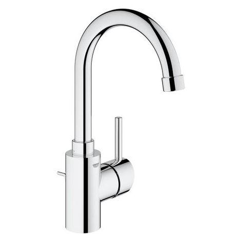 Mezclador monomando para lavabo Grohe Concetto, tamaño L con desagüe, caño giratorio - 32629001