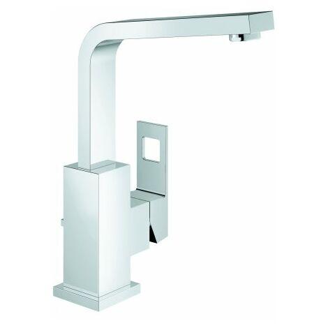 Mezclador monomando para lavabo Grohe Eurocube, tamaño L, con juego de desagüe y caño giratorio - 2313500E