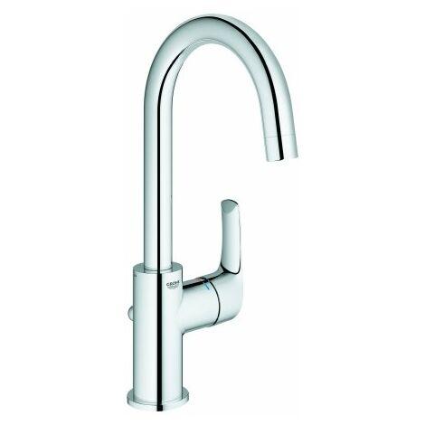 Mezclador monomando para lavabo Grohe Eurosmart, tamaño L con desagüe automático, con caño giratorio - 23537002