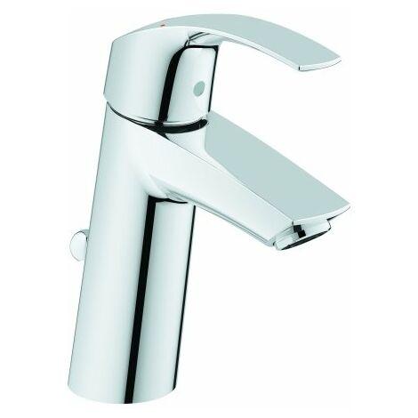 Mezclador monomando para lavabo Grohe Eurosmart, tamaño M con desagüe, EcoJoy - 23322001