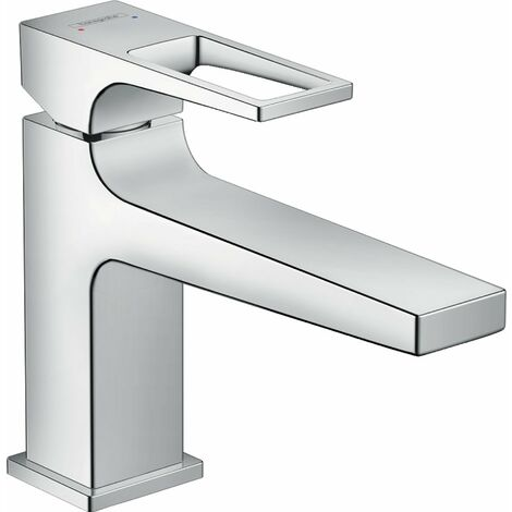 Mezclador monomando para lavabo Metropol 100 de Hansgrohe Metropol con asa y desagüe con pulsador, proyección de 116 mm - 74502000