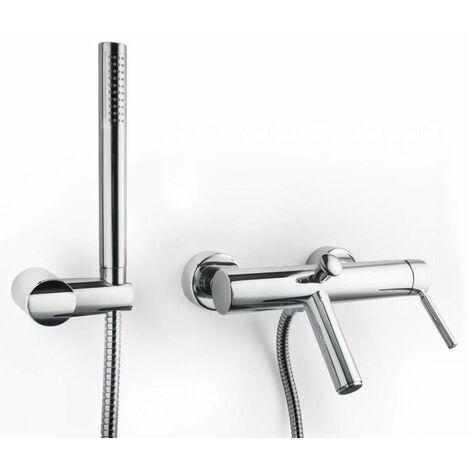 Mezclador para bañera con set de ducha Porta&Bini Forma 23100 | Cromo