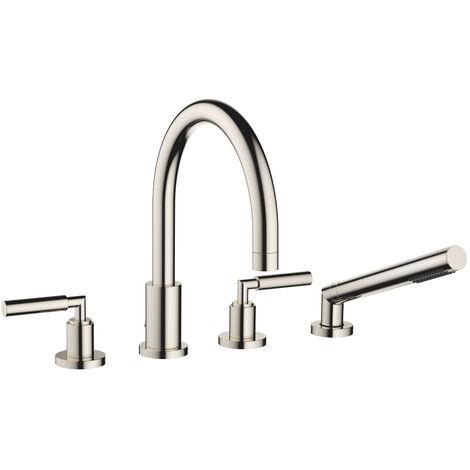 Mezclador para bañera de cuatro orificios de Dornbracht Tara para montaje en el borde de la bañera, proyección 220 mm, 27512882, color: de platino - 27512882-08