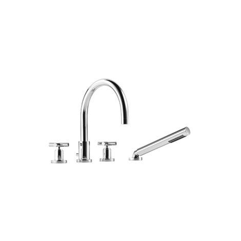 Mezclador para bañera de cuatro orificios de Dornbracht Tara para montaje en el borde de la bañera, proyección 220 mm, 27512892, color: cromado - 27512892-00