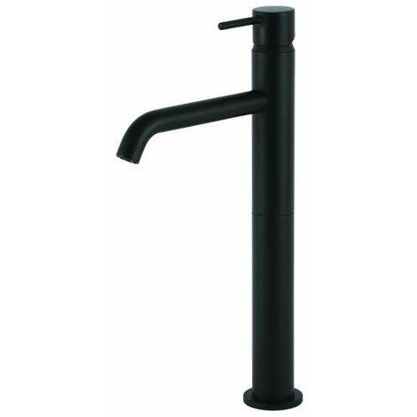 Mezclador para lavabo alto negro mate Gattoni Easy 2384/23NO | Negro mate - Sin Desagüe