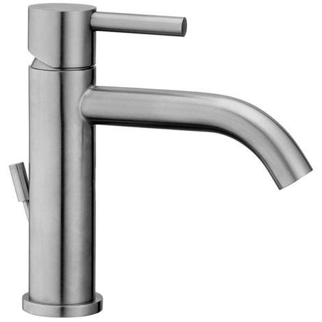 Mezclador para lavabo en acero inoxidable Paffoni Steel 075