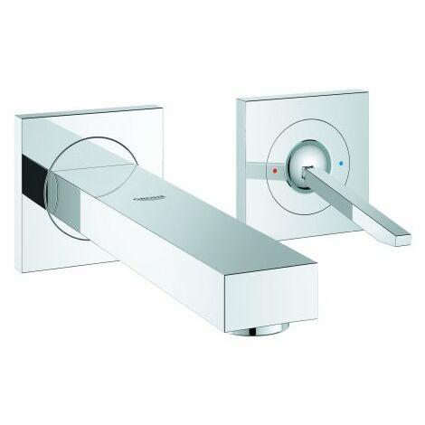 Mezclador para lavabo Grohe Eurocube Joy de 2 orificios, para montaje en pared, proyección de 170 mm - 19997000