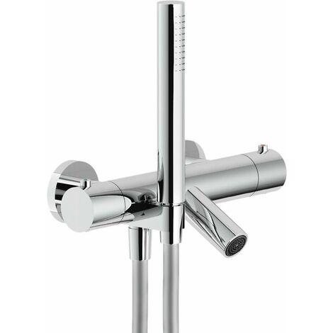 Mezclador termostático de baño externo con set de ducha Nobili Plus PL00010/2CR   Cromo