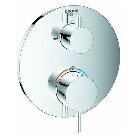 Mezclador termostático de baño Grohe Atrio con desviador de 2 vías integrado, 2 consumidores, color: cromado - 24138003