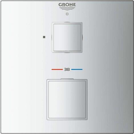 Mezclador termostático de ducha del Cubo Grohtherm de Grohe para Rapido SmartBox, 1 consumidor, color: cromado - 24153000