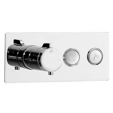 Mezclador termostático de ducha empotrado NT7176 2 salidas - con cuerpo de empotramiento